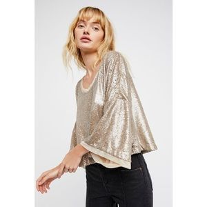 Free People Champagne Dreams Sequin Top *NEW*